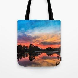 Summer Sunset over Lake Tote Bag