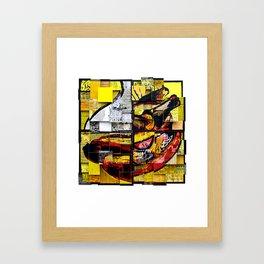 Coney Island Swirl Framed Art Print