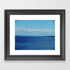 Good day for a sail Framed Art Print