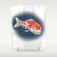 koi Shower Curtains featuring Koi by Ken Coleman