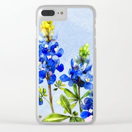 Bluebonnets 1 Clear iPhone Case