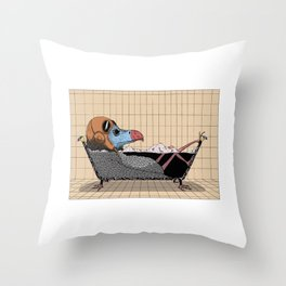 Every bird needs a bath Throw Pillow