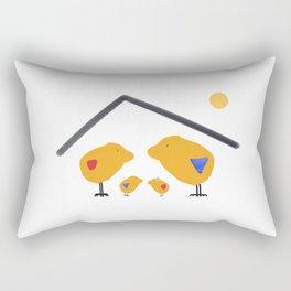 Sunny Family Sweet Home and Kids Rectangular Pillow