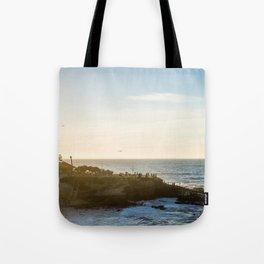 San Diego Beach Sunset Landscape in La Jolla Tote Bag