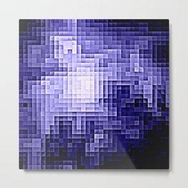 Nebula Pixels Periwinkle Lavender Metal Print