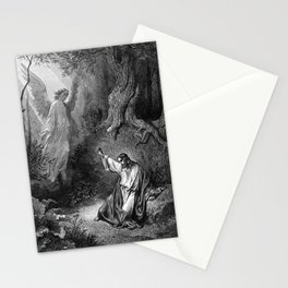 Gustave Dore - Jesus suffers agony in the garden of Gethseman Stationery Cards