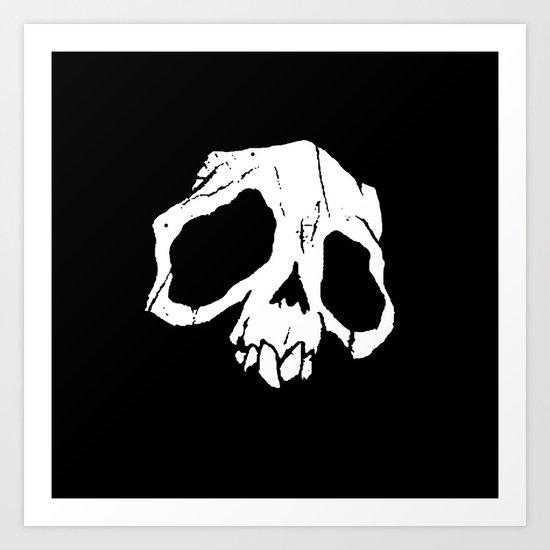 Ghoul Skull Art Print