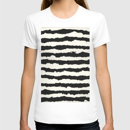 Tribal Stripes Black on Cream T-shirt