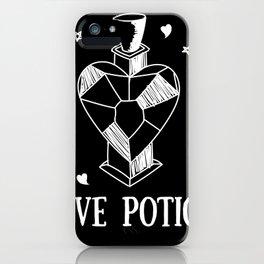 Love Potion (Black&White) iPhone Case