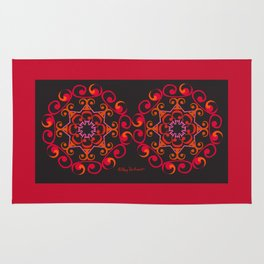 Grace Mandala x 2 - Red Black Rug