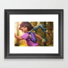 The Little Explorer Framed Art Print