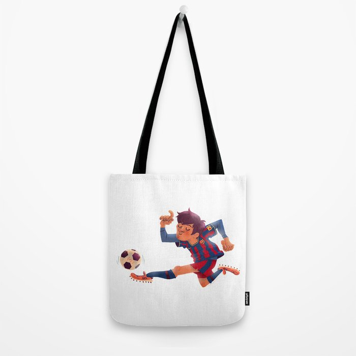Lionel Messi, Barcelona Jersey Tote Bag