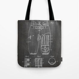 Football Pants Patent - Football Art - Black Chalkboard Tote Bag