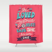 paper towns Shower Curtains featuring Paper Towns: Mysteries by Risa Rodil