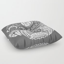 Grey Yin Yang Floor Pillow