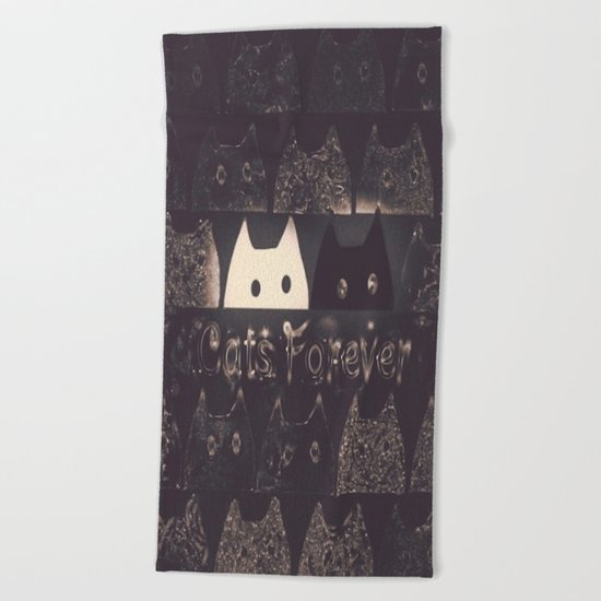cats-60 Beach Towel
