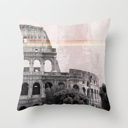 Colosseum Rome Italy Throw Pillow