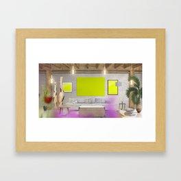 6 Scene Framed Art Print