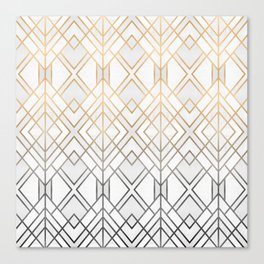 Gold And Grey Geo Canvas Print