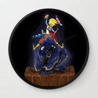 bull Wall Clocks featuring Bull by (Tak)