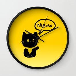 Sir Meows A Lot Wall Clock Wall Clock