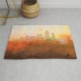 Corpus Christi, Texas Skyline - In the Clouds Rug