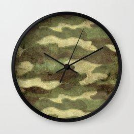Dirty Camo with a twist Wall Clock