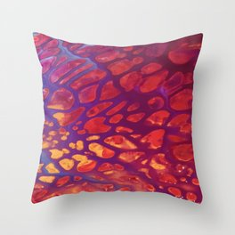 Magenta Gold Throw Pillow