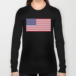 National flag of the USA - Authentic G-spec scale & colors Long Sleeve T-shirt