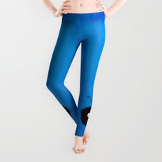 Blue Cute Dazzled Bug Leggings