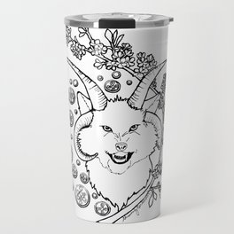 The Beast (black and white) Travel Mug