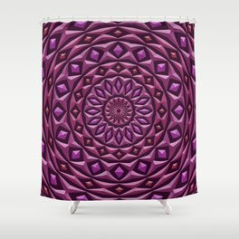 Carved in Stone Mandala Shower Curtain