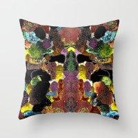 metallic Throw Pillows featuring metallic by gasponce
