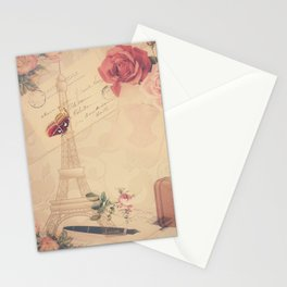 Vintage Parisian Collage Stationery Cards