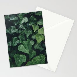 Dark Ivy Leaves Stationery Cards