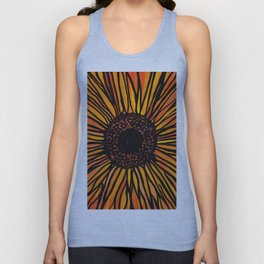 Brilliant Yellow Aster Flower Unisex Tank Top