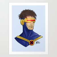 cyclops Art Prints featuring Cyclops by Matthew Bartlett