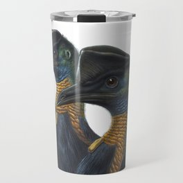 Northern Cassowary, tropical bird in the nature of New Guinea Travel Mug