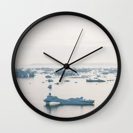 disko bay icebergs Wall Clock
