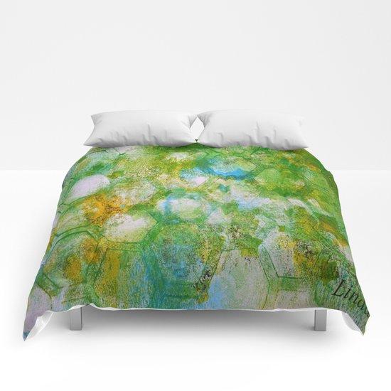 Hexy Green Comforters