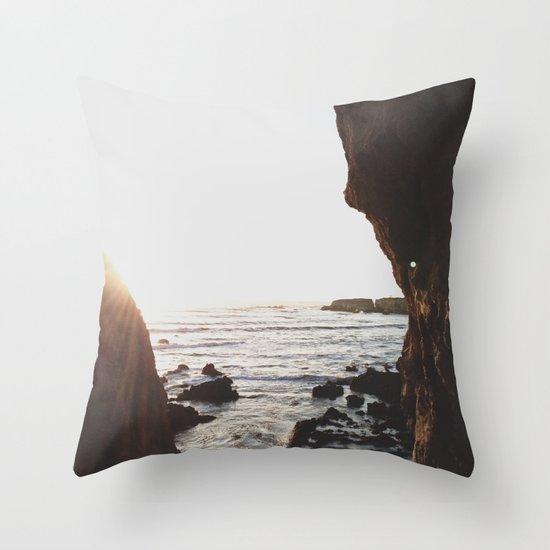 Shell Beach View Throw Pillow