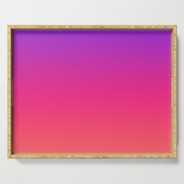Gradient Purple Ultra Violet Coral Pink Ombre Pattern Neon Pretty Trendy Ultraviolet Orange Texture Serving Tray