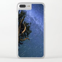 Perseid Meteors Clear iPhone Case
