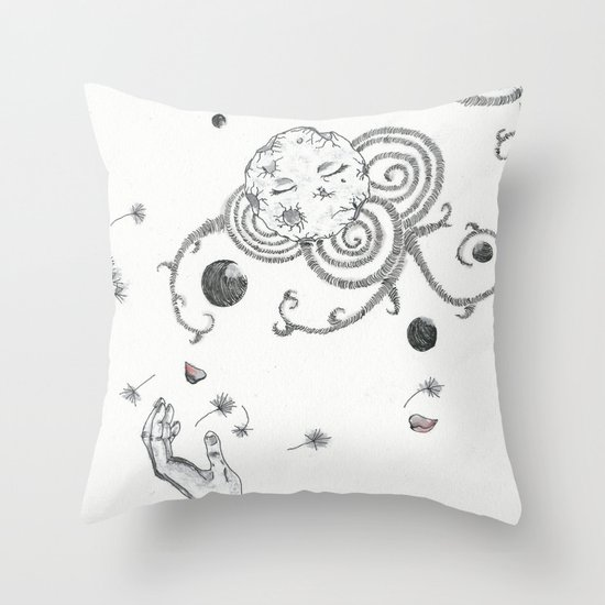 with Eyes closed Throw Pillow