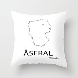 map of åseral Throw Pillow