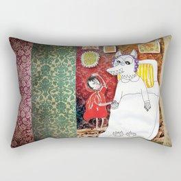 Girl & Wolf Rectangular Pillow
