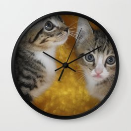 Cats Portrait Wall Clock