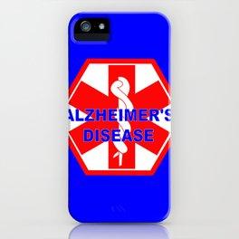 Alzheimer dementia medical identification ID tag iPhone Case