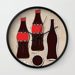 patent Bottle Wall Clock