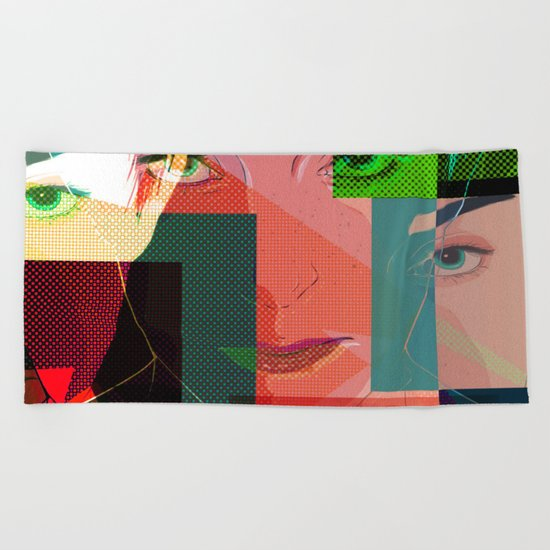 Eyes Pop art Beach Towel